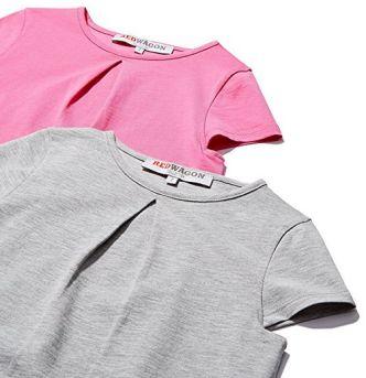 Guardaroba estate: magliette bimba rosa e grigio