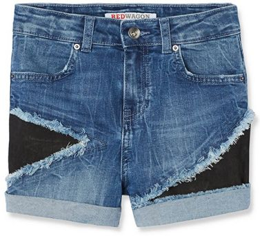 Guardaroba estate: short bimba in jeans con toppe