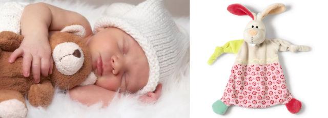Dormire bene: straccetto nanna a forma di coniglietto
