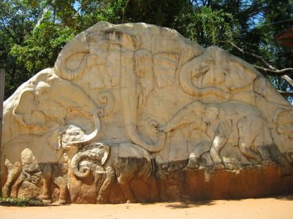 Sri Lanka: l'entrata del Pinnawala Elephant Orphanage