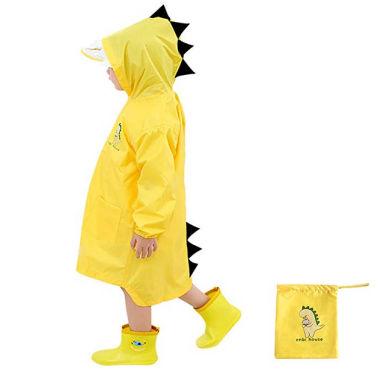 Contro le insidie del tempo? Ecco un poncho-dinosauro di un bel color giallo
