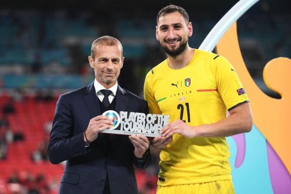 Euro 2020: Ceferin e Donnarumma